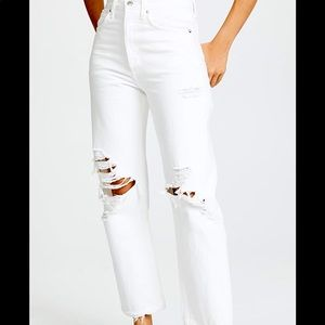AGolde 90s white jeans